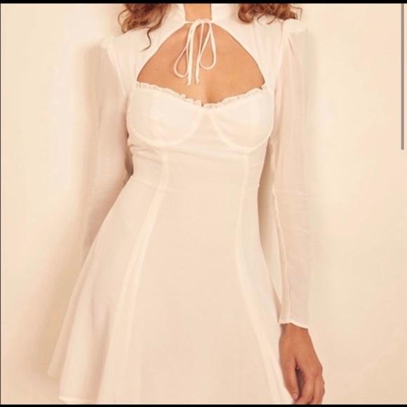 Reformation Vivianne Ivory Dress
